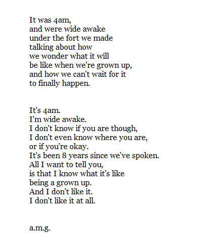 Grow Up Poems