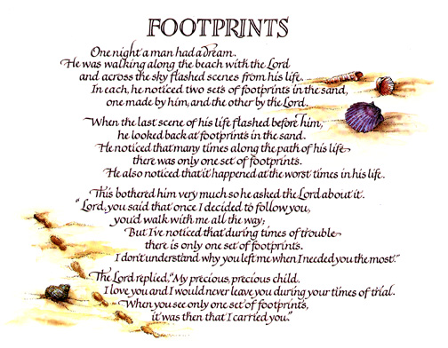 photograph relating to Footprints Poem Printable referred to as Conclusion -\u003e Footsteps Poem Spanish -