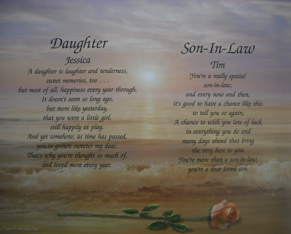 Daughter Son In Law Personalized Poem Christmas Gift: Future Daughter In Law Poems
