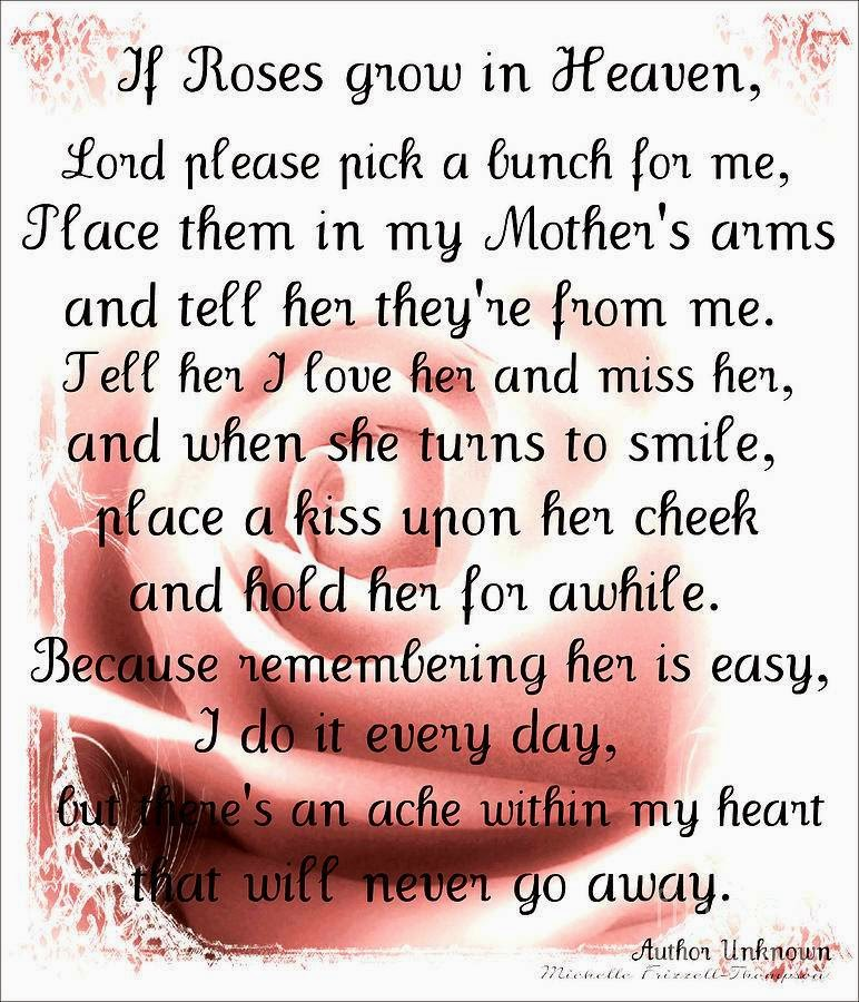 Missing Mom In Heaven Poems