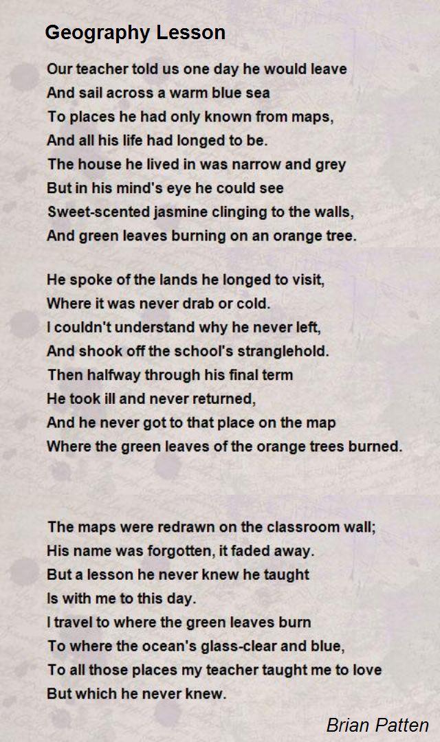 Lesson Poems