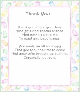Thank You Notes Girl Baby Shower, Baby Shower Thank You .