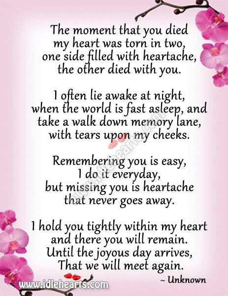 missing mom in heaven s quotes from daughter son mommom poems