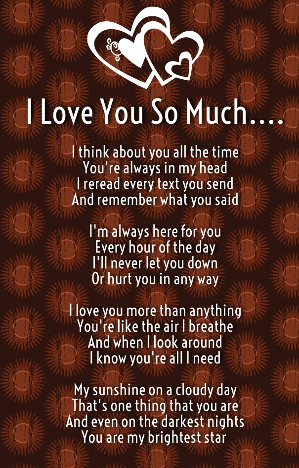 I Love You So Much Poems For Him And Her With Images  Quotes