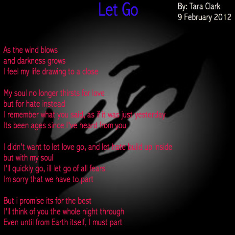 Letting Go Of Someone You Love Poems