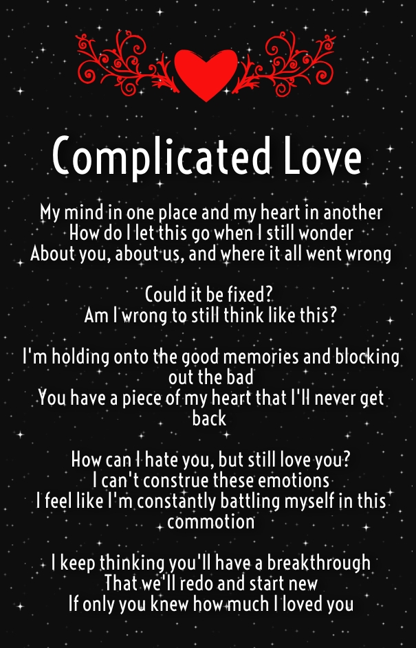 Complicated Relationship Poems