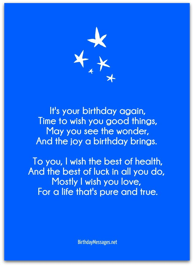 Birthday Wishes Poems
