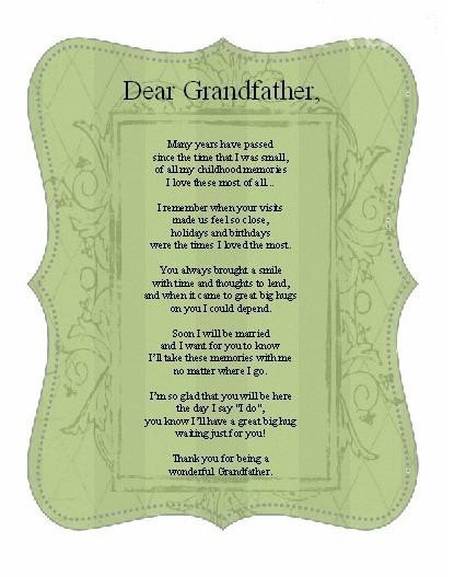 Grandfather Quotes And Poems Craftymumz Creations ...