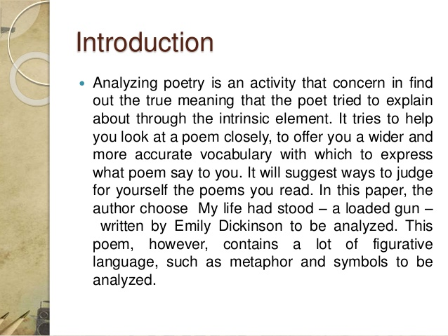 an analysis of the poem in my life Free poem analysis sample on the given topic life in our village life in our village is a poem written by matei markwei it has three stanzas, but with no definite and fixed number of lines per each it is a simple poem, an easy-to-read one in fact, and it tackles the issues of childhood innocence and.