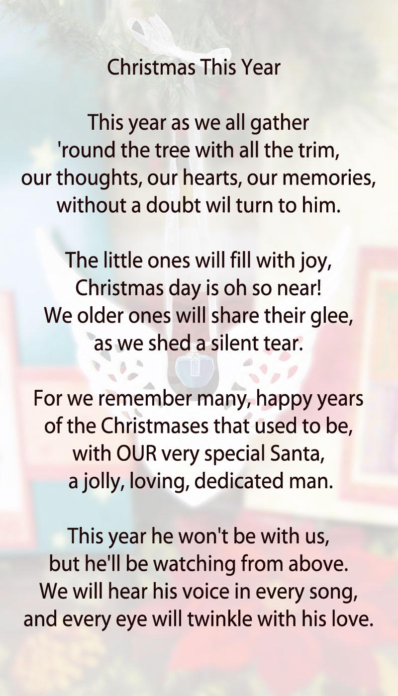 Christmas memorial Poems