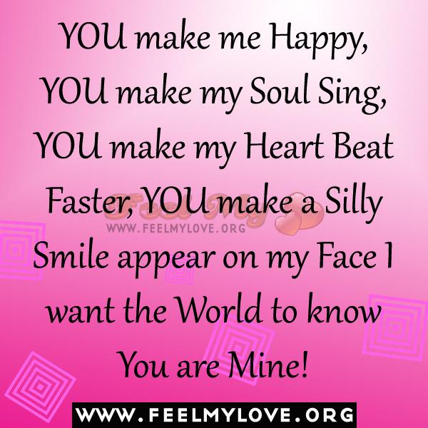 You Make Me Smile Poems