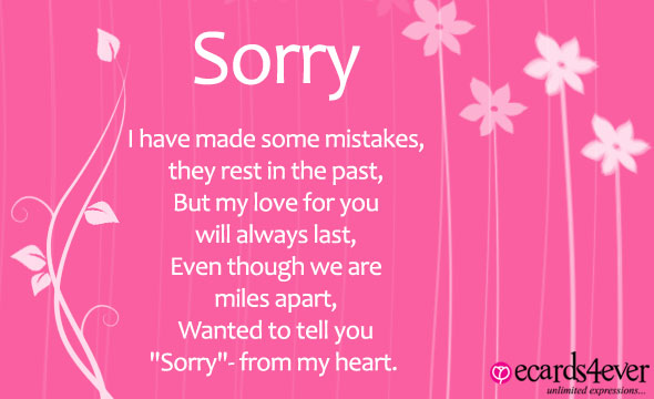 apology poem for girlfriend