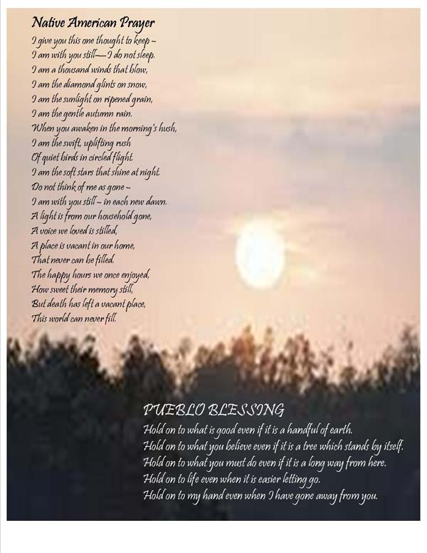 grief prayers poems