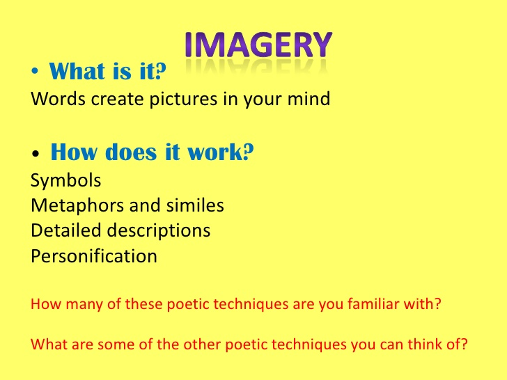 Imagery In Poems