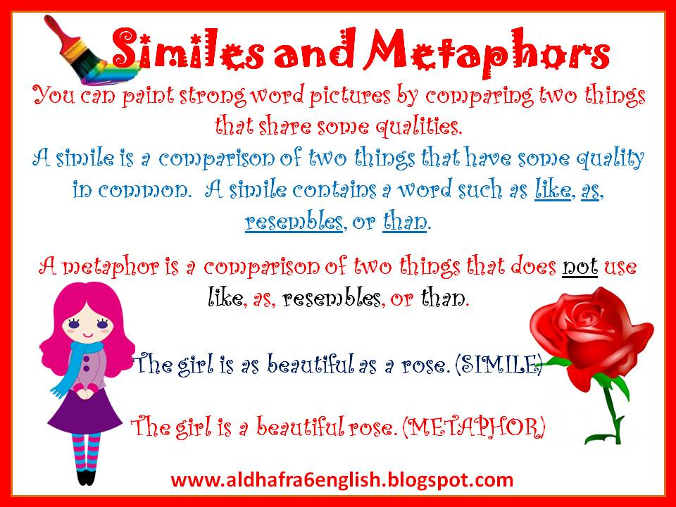 5 Examples Of Simile And Metaphor Image Collections Example Cover