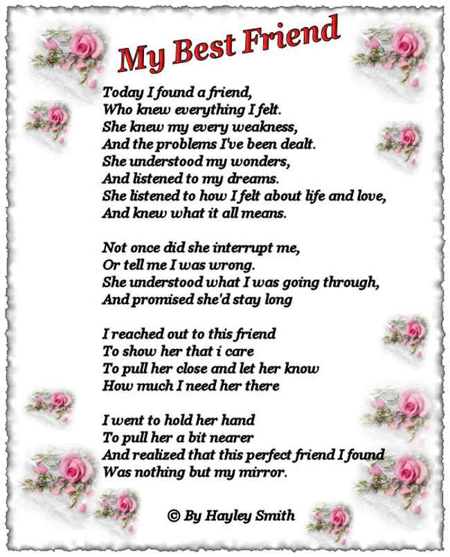 Happy Birthday Friend Poems