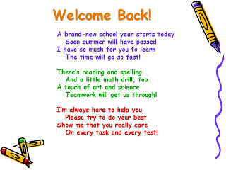 Welcome Back Poems