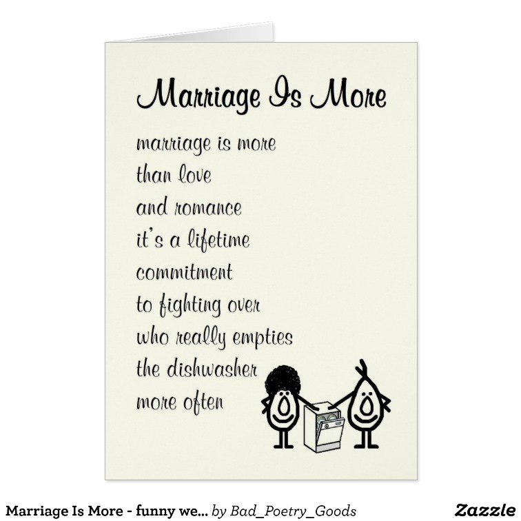 Marriage Is More Funny Wedding Anniversary Card