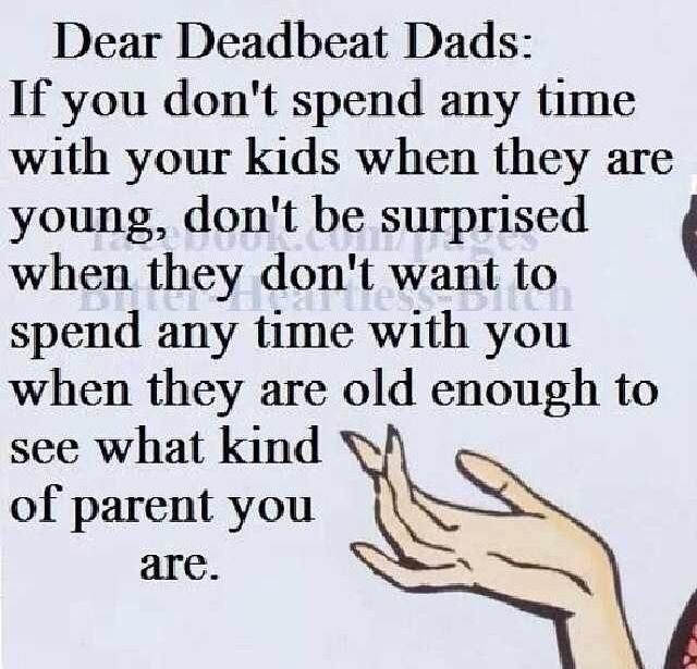 Deadbeat Dad Poems