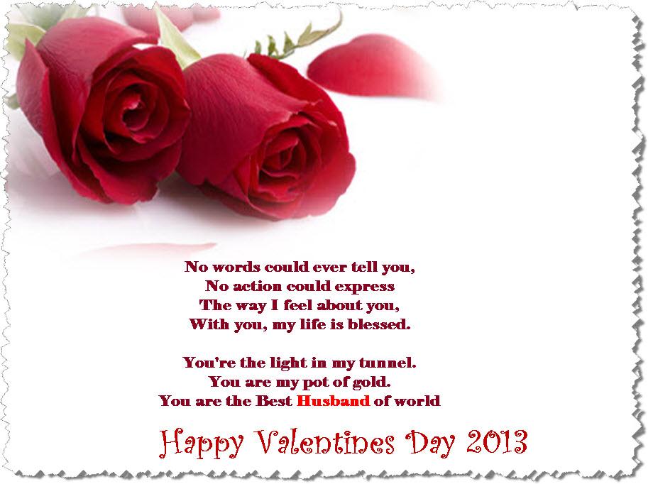 Husband Valentine Poems
