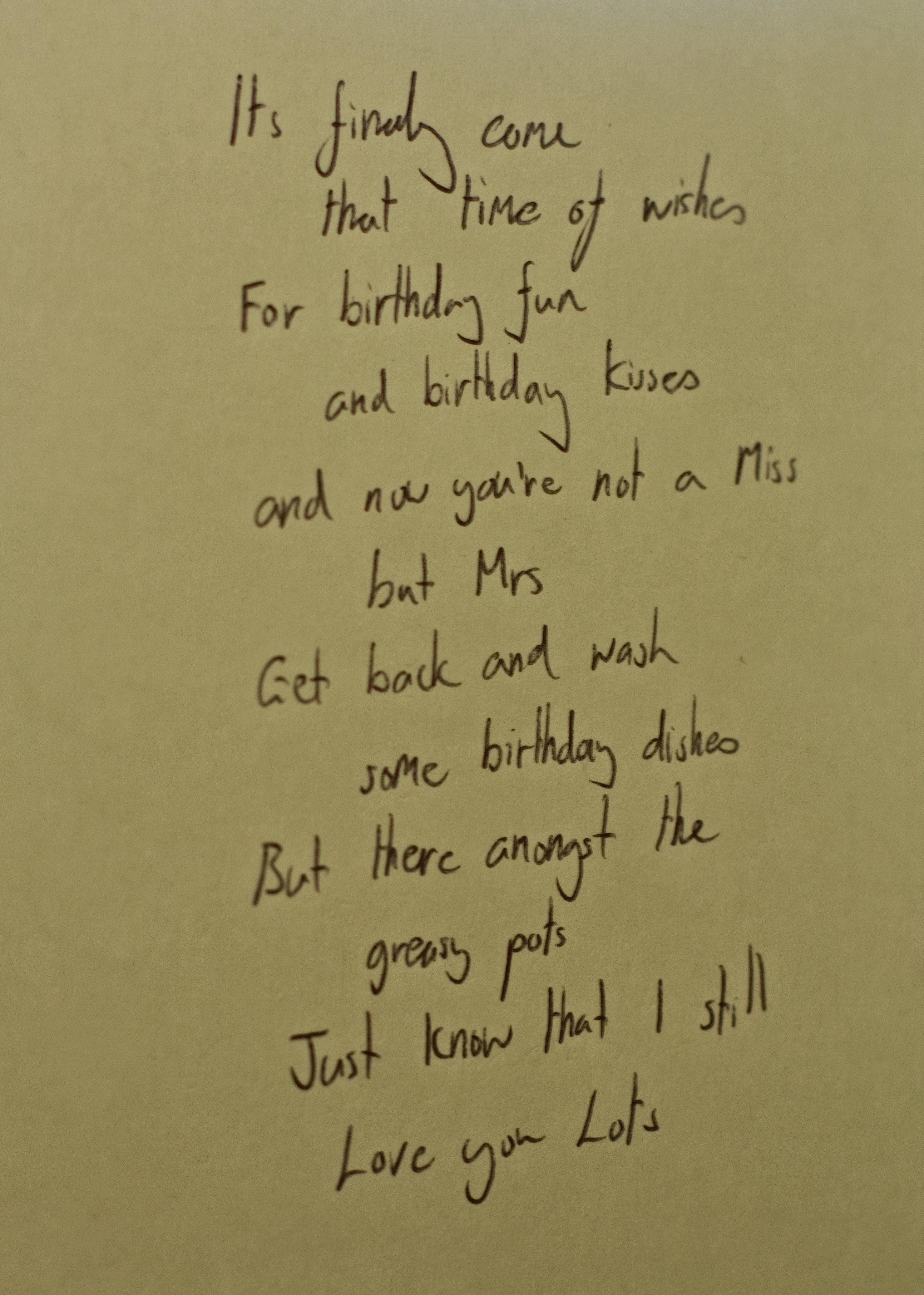 Poems for husbands birthday