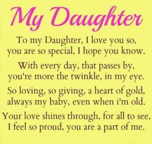 Mother to daughter Poems