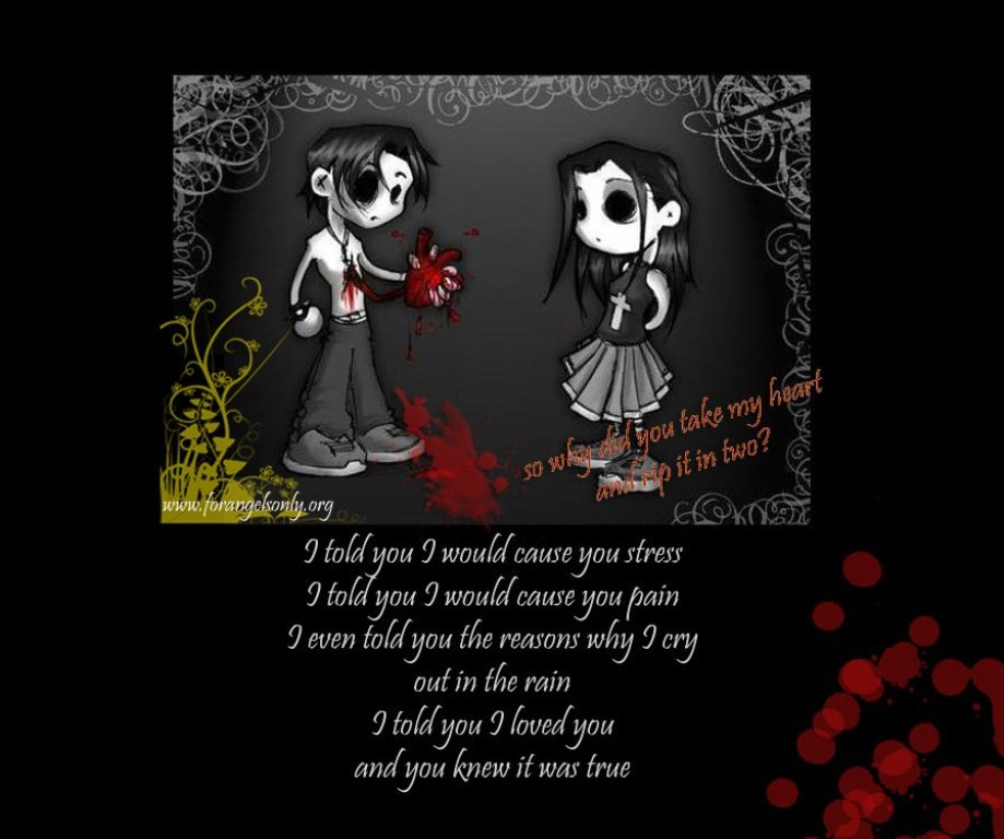 Emo Love Poems Inspiration Emo Love Quotes