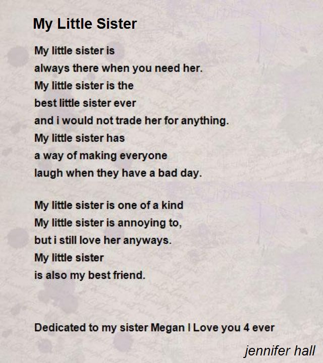 Little Sister Birthday Poems