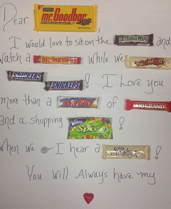 Valentine Candy Bar Card For Teachers Candy Bar Letters Amp Cards