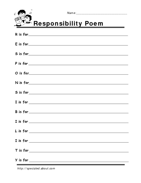 responsibility worksheet the large and most comprehensive worksheets. Black Bedroom Furniture Sets. Home Design Ideas