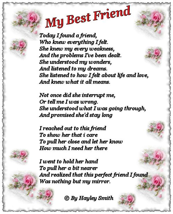 poem for best friend girl