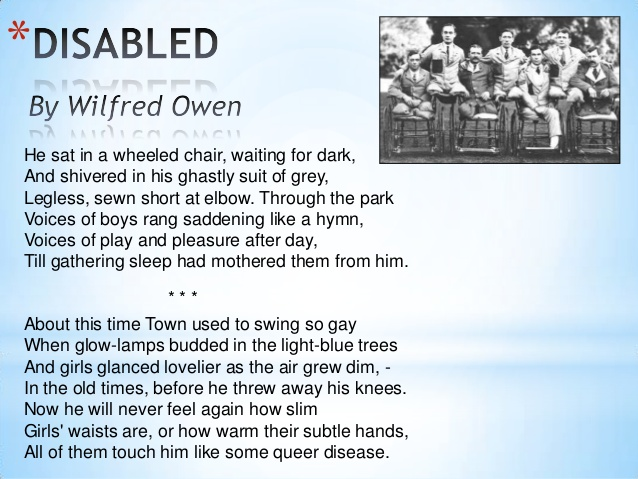 the poems spring offensive and exposure by wilfred owen essay Comparisons between exposure and spring offensive wilfred owen is one of the most renowned poets of world war one he was born on the 18th march 1893 and worked in france as an english teacher.
