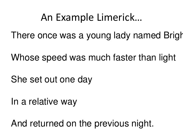 Examples Of Limerick Poems