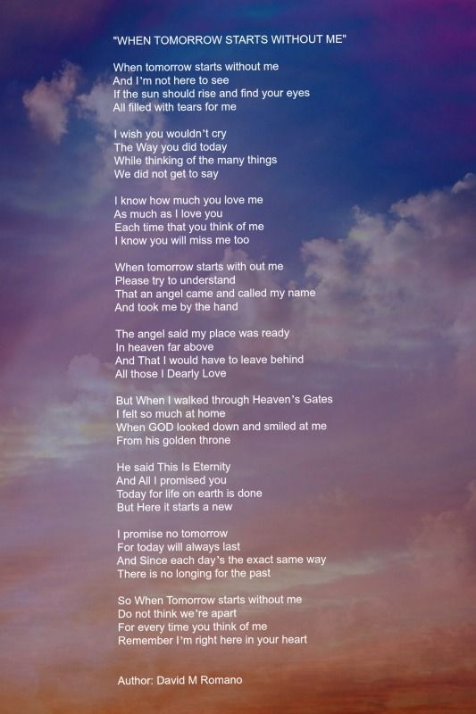 Life is not the same without you poems