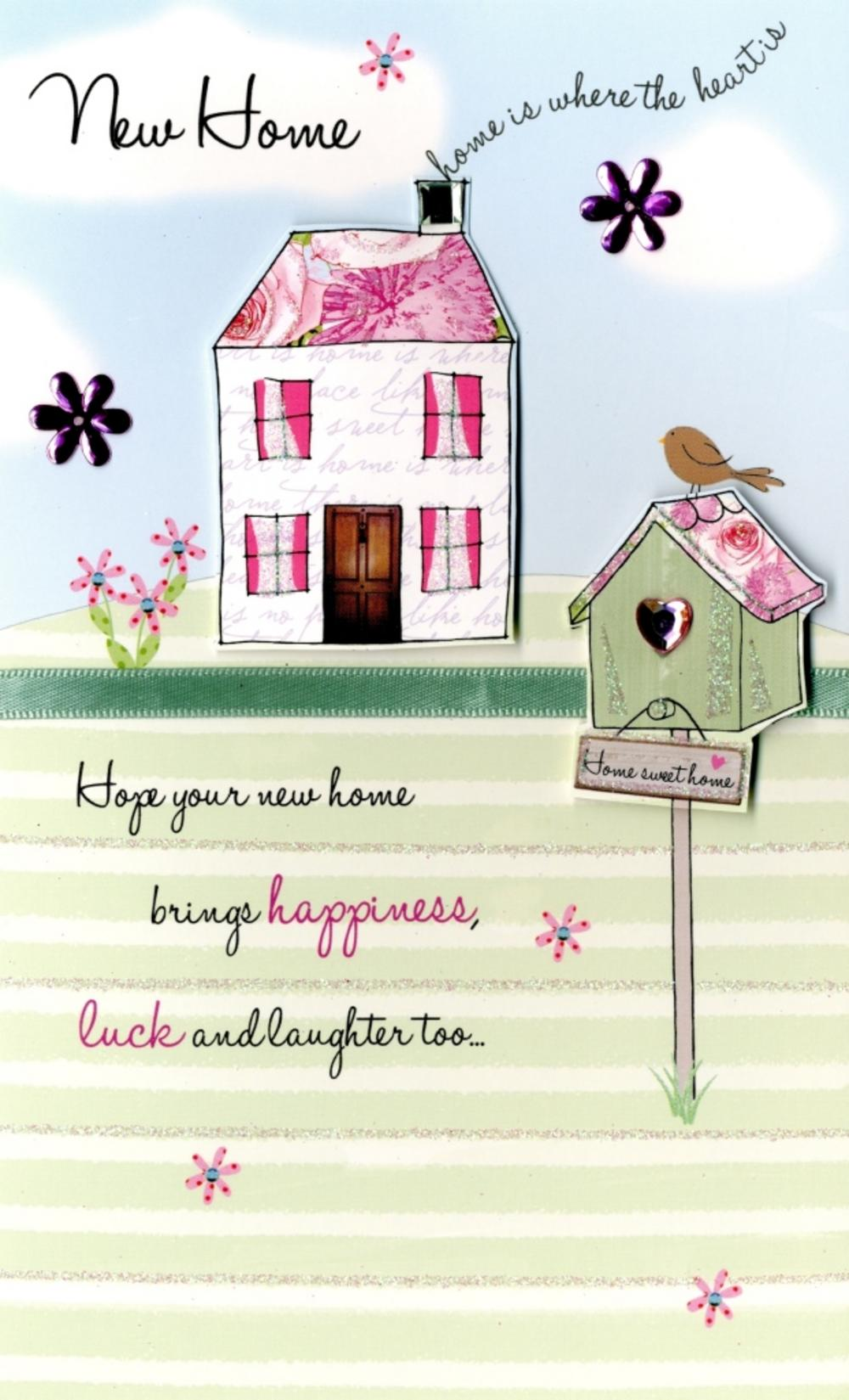 New house poems new home embellished greeting card cards love kates m4hsunfo