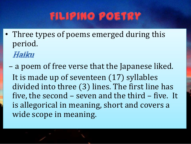 period of imitation in philipine literature Course description this course treats mainly on the development of philippine literature from the early period to the modern period  the course attempts to bring together within the covers of single instructional material the best that has been said and taught in philippine literature.