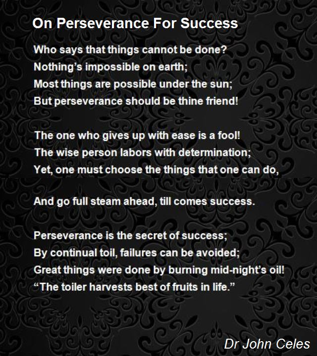 Persistence Motivational Quotes: Determination Poems