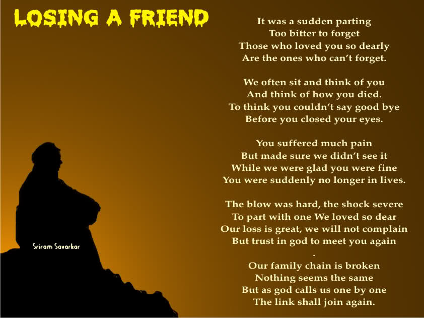 Friend Death Poems