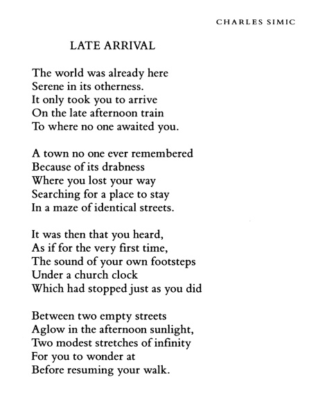 old soldier charles simic