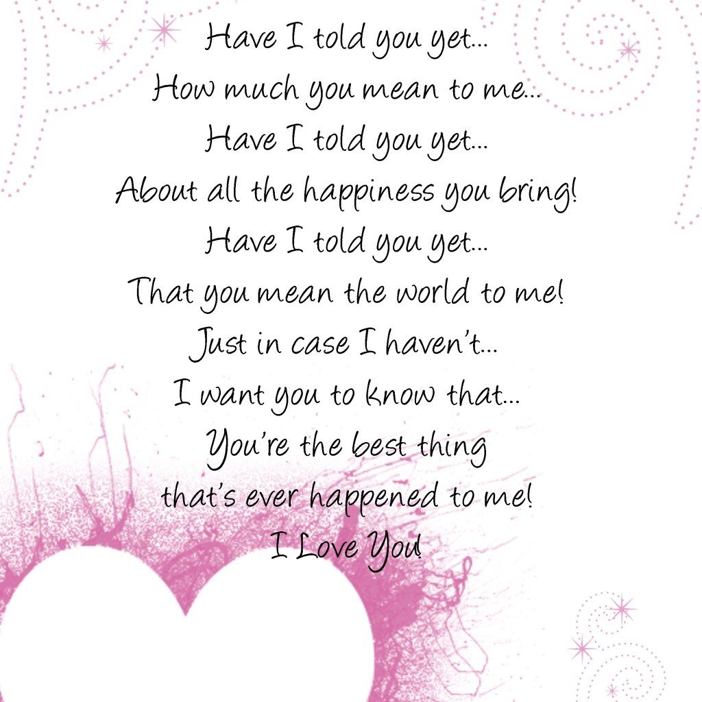 Short Sweet I Love You Quotes: Cute Short Love Poems