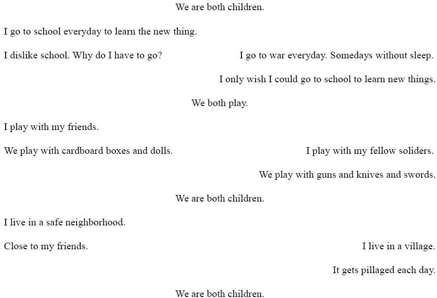 A poem for two voices project classroom.