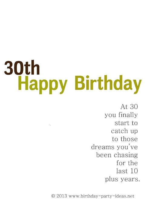 30th birthday poems for her