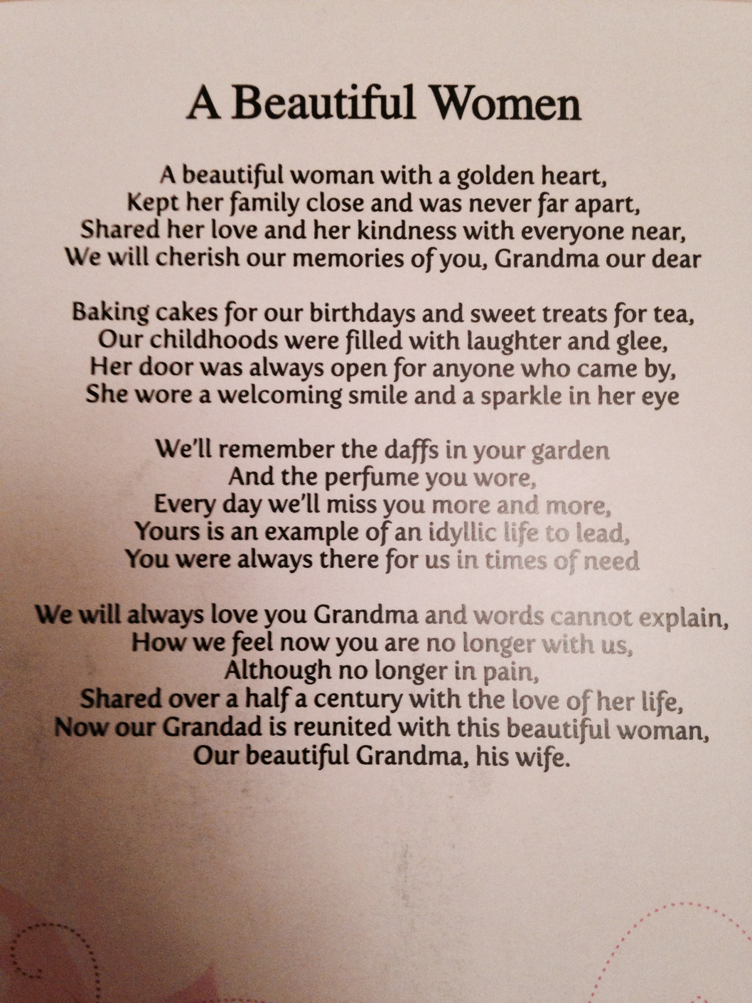 Letter For Loved Ones Saying Goodbye
