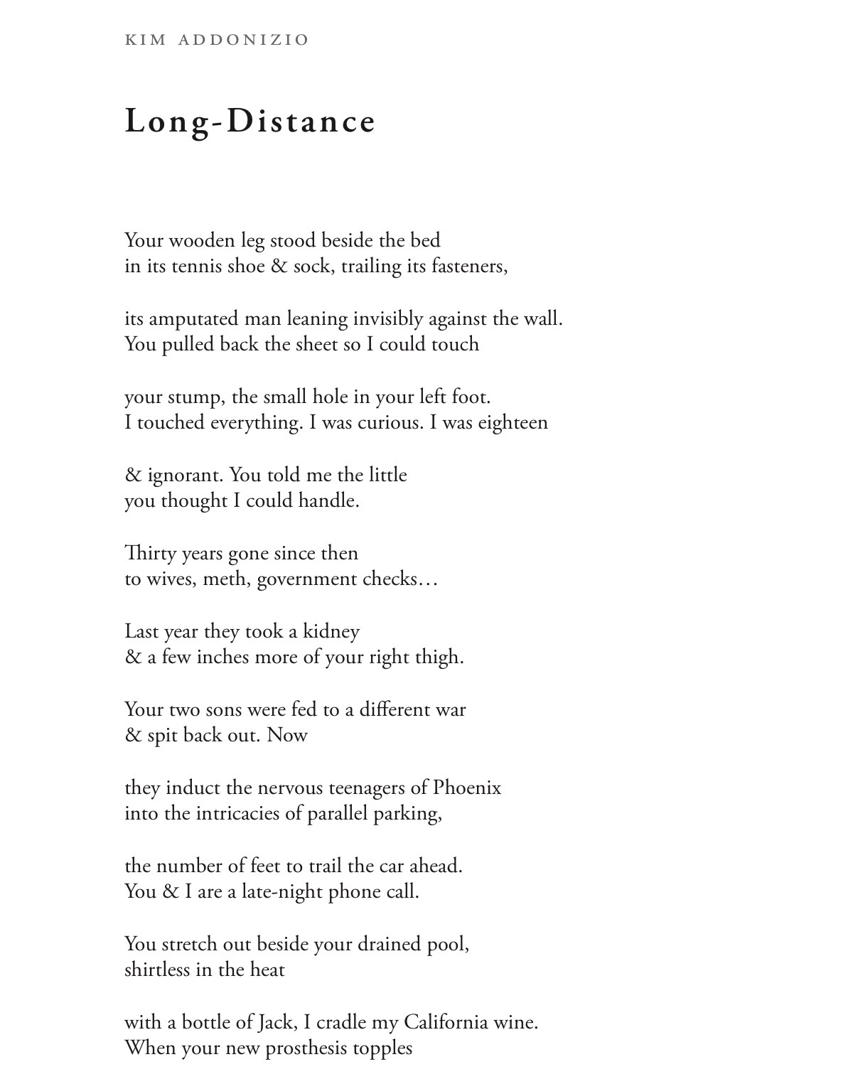Long distance poems for her