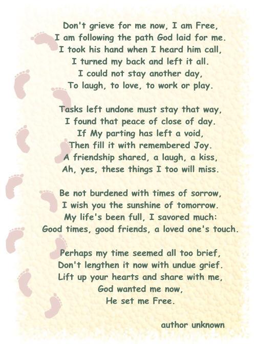 Memory death Poems