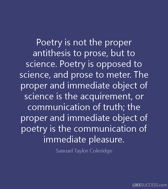 famous antithesis poems Antithesis is the term used to refer to an author's use of two contrasting or opposite terms in a sentence for effect the two terms are set near each other to enhance or highlight the contrast in opposite meaning.