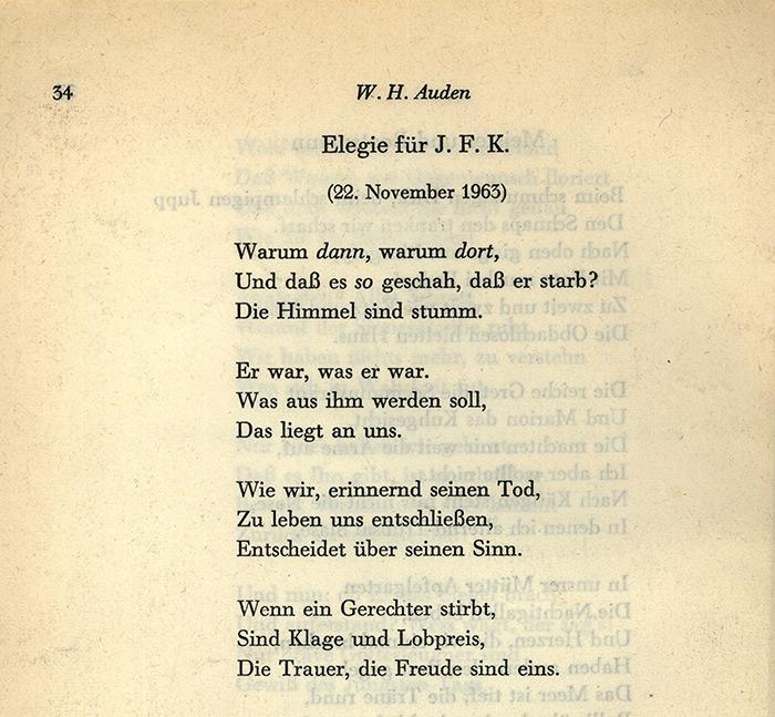 Wh Auden Poems