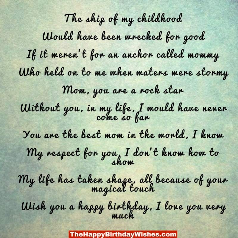 Happy Birthday Mom Quotes From Son In Hindi: Happy Birthday Son Poems