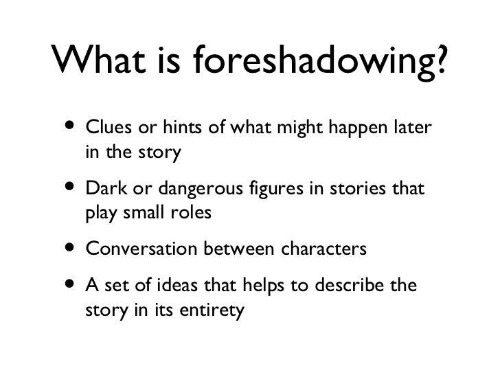 foreshadowing poems examples