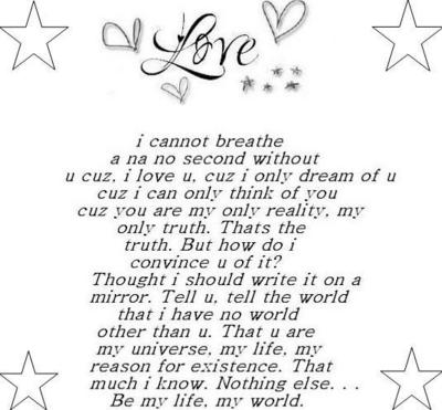 The Love Of My Life Poems